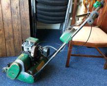 A vintage Qualcast Suffolk Punch Lawnmower. Est. £15 - £20.