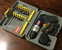 A Ryobi 4.8v Drill Complete with Attachments.