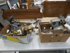 (11) 2 boxes containing brass lanterns