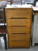 1950's narrow chest of 5 drawers