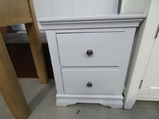 27 - Florence grey painted large bedside cabinet