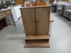 5318 - Hanging cabinet with pigeon holes and storage space under