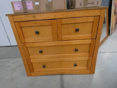 Beech chest of 2 over 2 drawers