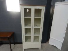 109 - Malvern Shaker ivory painted oak display cabinet