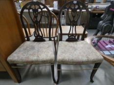5050 - Pair of carved Georgian dining chairs