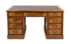An early 20th century mahogany desk,