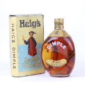 An old bottle of John Haig & Co Dimple Scotch Whisky with Spring cap and box 70 proof no size