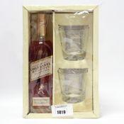 A bottle of Johnnie Walker Gold Label Reserve Scotch Whisky,