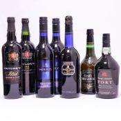 7 bottles, 2x Taylor's First Estate Reserve Port 75cl, 1x M&S Vintage Character Port ,