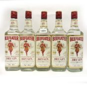 5 bottles of Beefeater London Dry Gin 70cl 40%