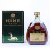A bottle of Hine VSOP Fine Champagne Cognac with box,
