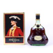 A bottle of Hennessy XO Cognac with box Duty Free label no size nor strength stated estimate 70cl