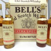 9 bottles of Bell's Extra Special Old Scotch Whisky 70cl 40% with box