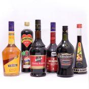 6 bottles Fruit Brandy, 1x Kirsberry Cherry Speciality Danish 19.