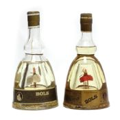 2 Bols Ballerina Gold Liqueurs with music boxes (Red music box a/f) circa 1960's