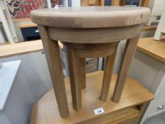 5094 Wessex smoked oak nest of 2 tables