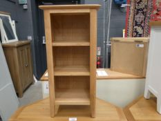 Small oak open front bookcase (27)