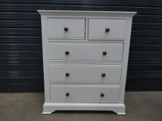 White chest of 2 over 3 drawers (26)