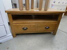 5068 Rutland oak corner TV unit