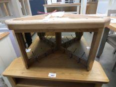 Wessex smoked oak corner hall bench top (15)