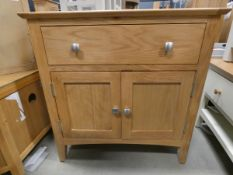 Small oak sideboard with single drawer and double door cupboard under (59)