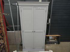 Grey painted 2 door wardrobe (20)