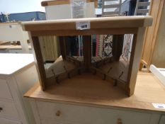 5088 Wessex smoked oak corner hall bench top (58)