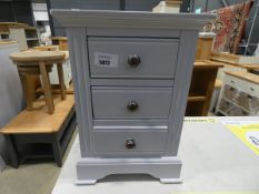 Blue painted 3 drawer bedside cabinet (39)