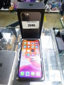 Apple iPhone 11 Pro in space grey, 54GB mobile phone. Complete with earphones, charger and box
