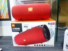 JBL Xtreme portable bluetooth speaker with charger and box