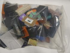 Bag containing quantity of empty jewellery boxes