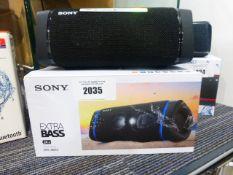 Sony SRS-XB33 Bluetooth speaker with box
