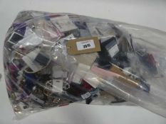 Bag containing large quantity of loose costume and dress jewellery