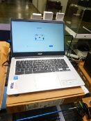 2525 Acer Chromebook 314 laptop. Intel Celeron processor, 4GB memory, 64GB storage. Complete with