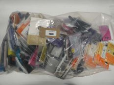 Bag containing large quantity of mobile phone cases and covers