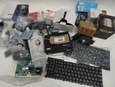 Bag containing various spare parts and electrical related accessories/devices