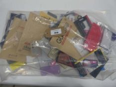 Bag containing quantity of mobile phone cases and covers