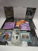 Box containing LP and 45 records to include Radiohead, High Society, Morrissey, The Kinks and others