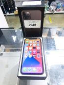 Apple iPhone 11 Pro in space grey mobile phone, 64GB memory. complete with earphones, charger but no