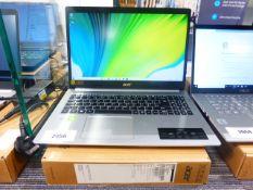 Acer Aspire 5 laptop. core i3 10th generation processor, 4GB RAM, 256GB storage, Windows 10