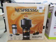 (TN76) Boxed Nespresso KRUPS espresso coffee machine