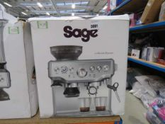 (TN45) Boxed Sage Barista Express coffee machine