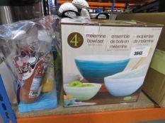Melamine bowl set plus a milkshake maker