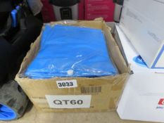 Box containing a quantity of adults' hooded ponchos