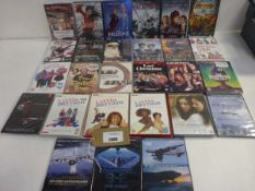 Bag containing a selection of various titled DVD films