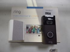 2033 - Ring Video Doorbell 2 with chime and box