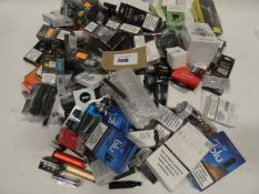 Bag containing large quantity of vaping accessories and spares; tanks, atomisers, coils etc