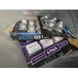 Bag containing a mixture of lighting, LED light bulbs, etc