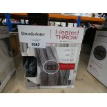 Boxed Brookstone heated throw