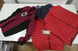 2 Berghaus mens gilets and a ladies 32 Degree Heat long sleeved jacket in various colours and sizes